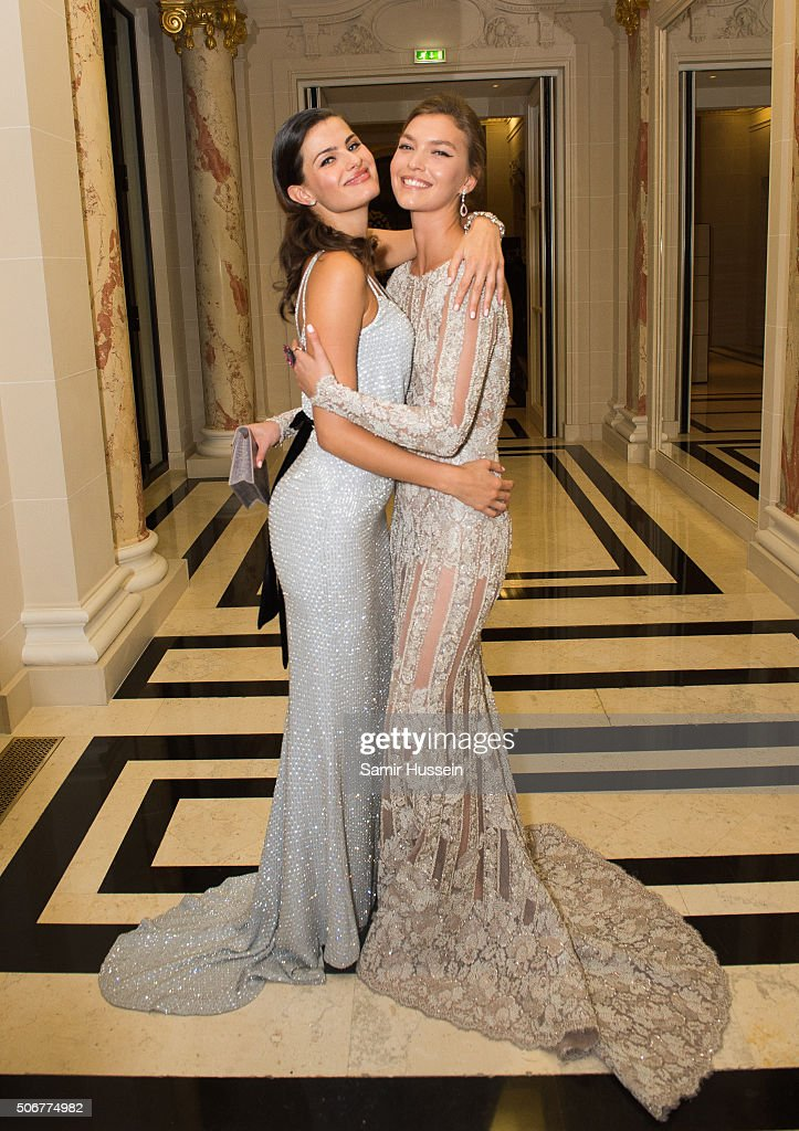 Arizona Muse and Isabeli Fontana attend the Ralph & Russo and Chopard dinner during part of Paris Fashion Week on January 25, 2016 in Paris, France.