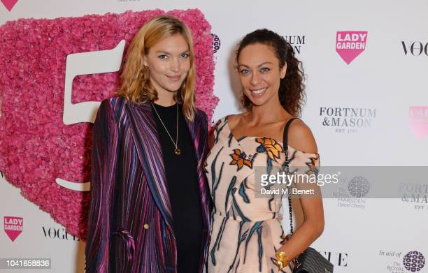 Arizona Muse and Lilly Becker attend the 5th annual Lady Garden lunch in support of the Silent No More Gynaecological Cancer Fund at Fortnum Mason on...