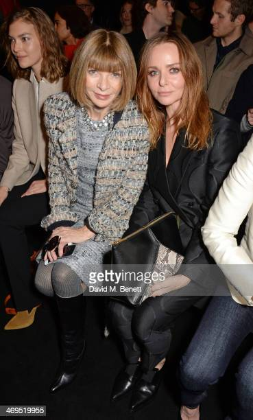 Arizona Muse Anna Wintour and Stella McCartney attend the Hunter Original AW 2014 Show at Ambika P3 Gallery University of Westminster on February 15...