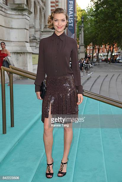 Arizona Muse arrives for the VA Summer Party at Victoria and Albert Museum on June 22 2016 in London England