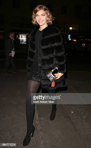 Arizona Muse at The Cuckoo Club Halloween party on October 28 2015 in London England