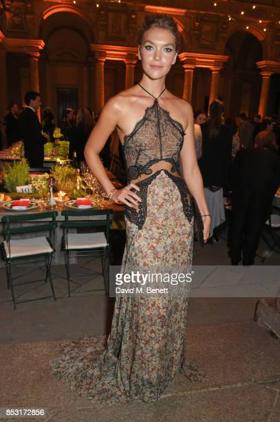 Arizona Muse attends a private dinner hosted by Livia Firth following the Green Carpet Fashion Awards Italia at Palazzo Marino on September 24 2017...