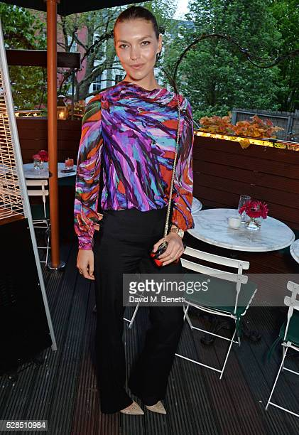 Arizona Muse attends a private dinner hosted by Rodial founder Maria Hatzistefanis Bay Garnett at Casa Cruz on May 5 2016 in London England