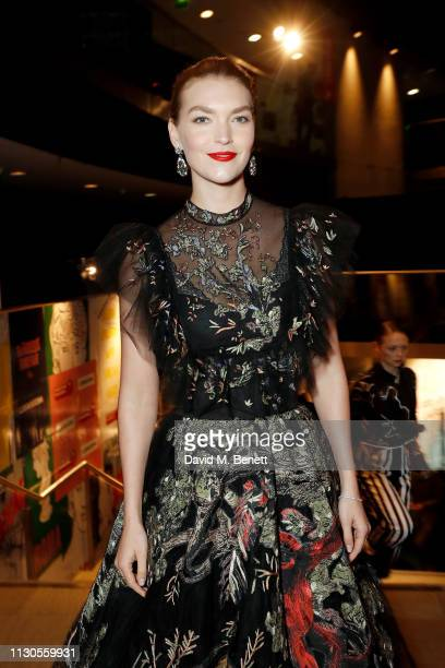 Arizona Muse attends Naked Heart Foundation's Fund Fair with LuisaViaRoma at The Roundhouse on February 18 2019 in London England