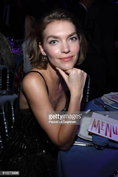 Arizona Muse attends the 16th Sidaction as part of Paris Fashion Week on January 25 2018 in Paris France