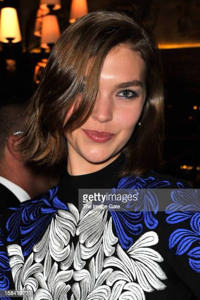 Arizona Muse attends the ASMALLWORLD Gala Dinner for Alzheimer Society at the Gstaad Palace Hotel on December 15 2012 in Gstaad Switzerland