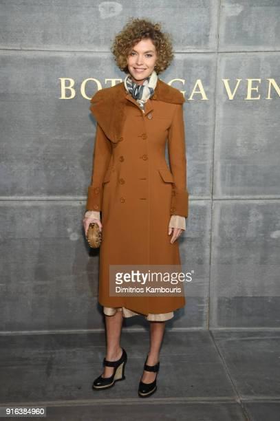 Arizona Muse attends the Bottega Veneta Fall/Winter 2018 fashion show at New York Stock Exchange on February 9 2018 in New York City