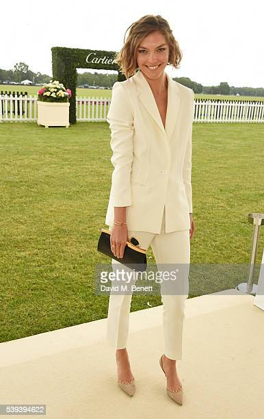 Arizona Muse attends The Cartier Queen's Cup Final at Guards Polo Club on June 11 2016 in Egham England