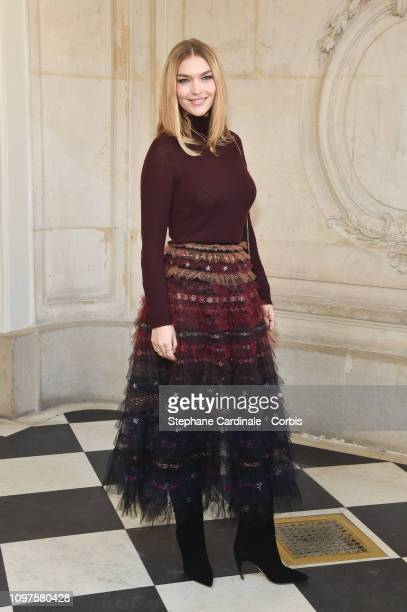 Arizona Muse attends the Christian Dior Haute Couture Spring Summer 2019 show as part of Paris Fashion Week on January 21 2019 in Paris France