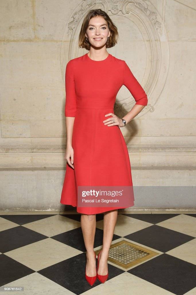 Arizona Muse attends the Christian Dior Haute Couture Spring Summer 2018 show as part of Paris Fashion Week on January 22, 2018 in Paris, France.