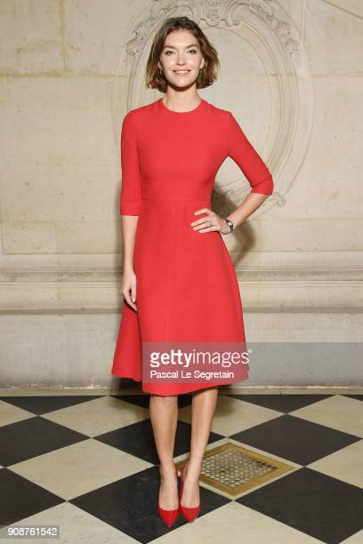 Arizona Muse attends the Christian Dior Haute Couture Spring Summer 2018 show as part of Paris Fashion Week on January 22 2018 in Paris France