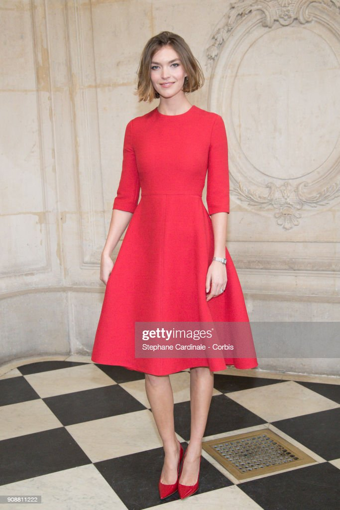 Arizona Muse attends the Christian Dior Haute Couture Spring Summer 2018 show as part of Paris Fashion Week January 22, 2018 in Paris, France.