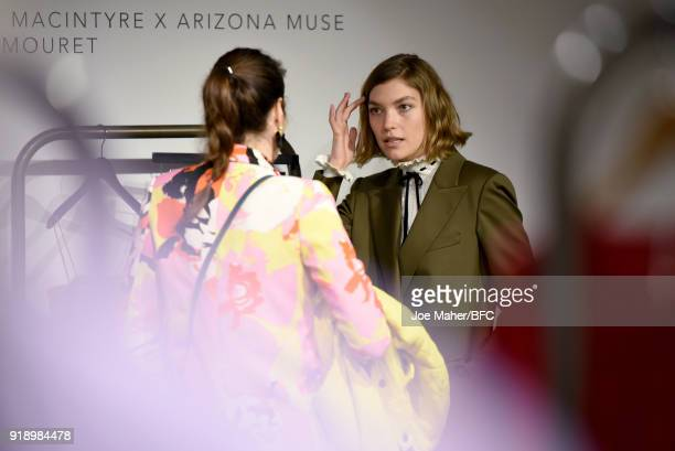 Arizona Muse attends the Designer Showrooms Preview during London Fashion Week February 2018 on February 16, 2018 in London, England.