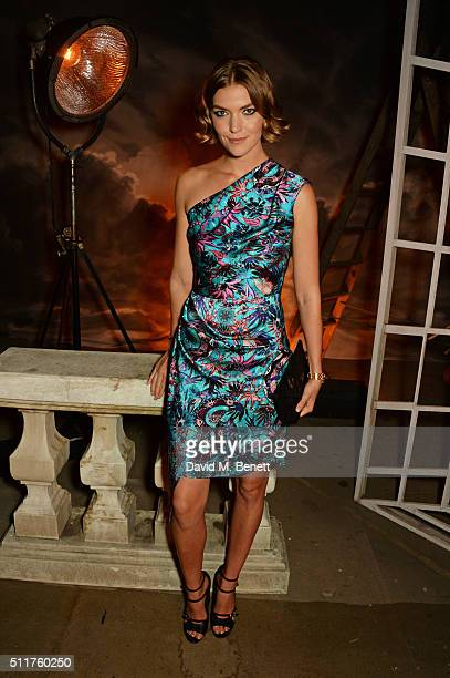 Arizona Muse attends the Erdem x Selfridges LFW Afterpary at the Old Selfridges Hotel on February 22 2016 in London England