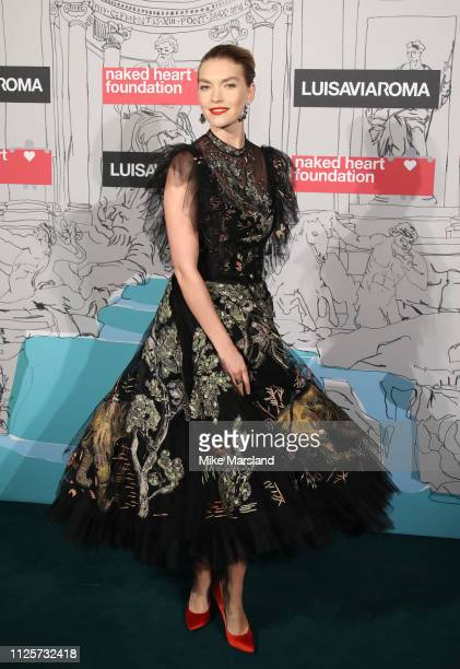 Arizona Muse attends the Fabulous Fund Fair event during London Fashion Week February 2019 at the The Roundhouse on February 18 2019 in London England