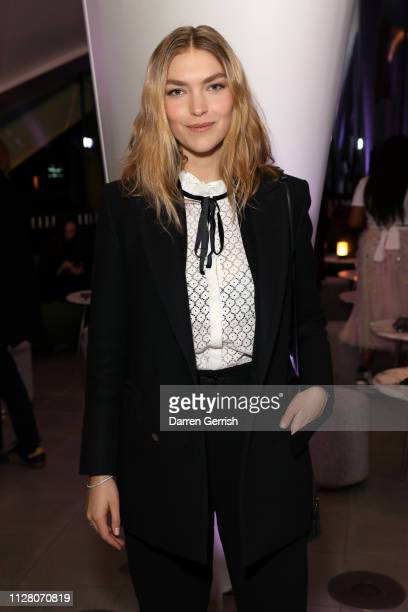 Arizona Muse attends the Future Contemporaries Mystery Nights party at The Serpentine Gallery on February 07 2019 in London England
