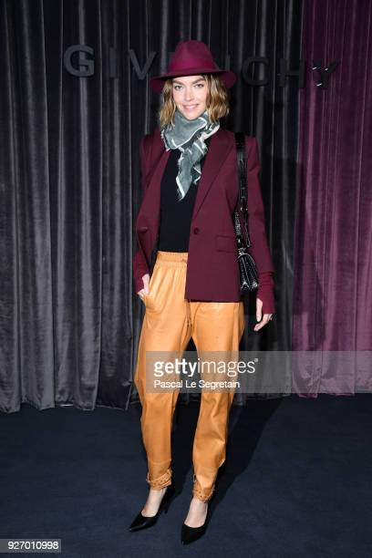 Arizona Muse attends the Givenchy show as part of the Paris Fashion Week Womenswear Fall/Winter 2018/2019 on March 4 2018 in Paris France
