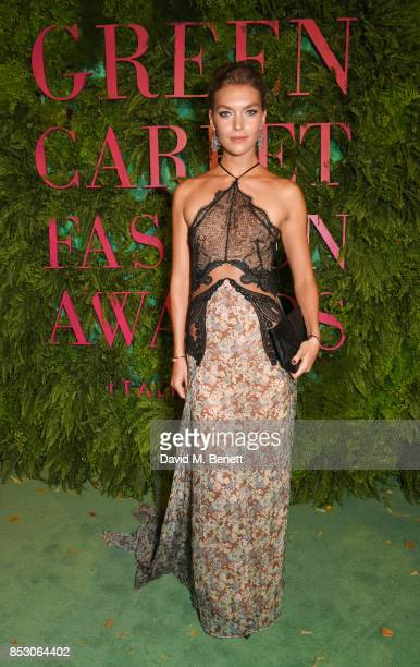 Arizona Muse attends the Green Carpet Fashion Awards Italia at Teatro Alla Scala on September 24 2017 in Milan Italy