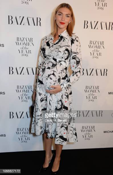 Arizona Muse attends the Harper's Bazaar Women Of The Year Awards 2018 in partnership with Michael Kors and MercedesBenz at Claridge's Hotel on...