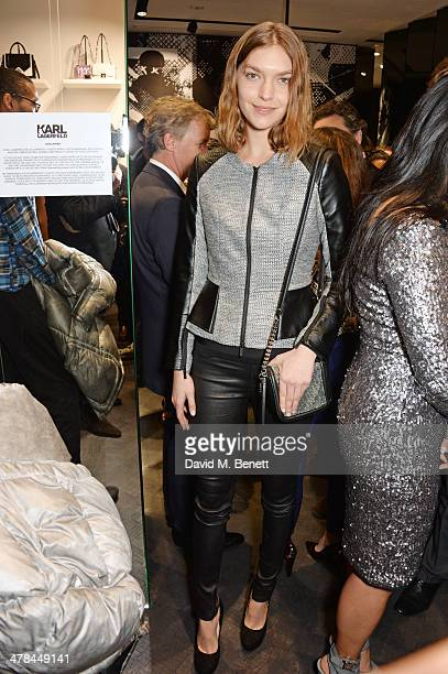 Arizona Muse attends the Karl Lagerfeld European flagship store launch on March 13 2014 in London England