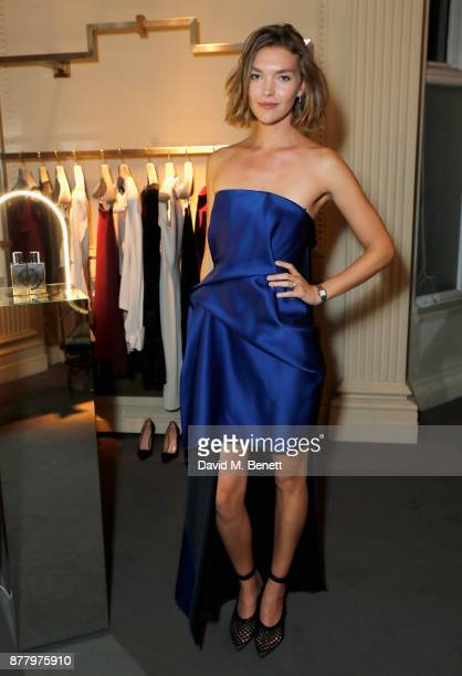Arizona Muse attends the launch of Roland Mouret's debut fragrance 'Une Amourette' in collaboration with Etat Libre on November 23 2017 in London...