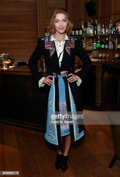 Arizona Muse attends the launch of the book 'Alice Temperley English Myths and Legends' at The London Edition Hotel on October 10 2017 in London...