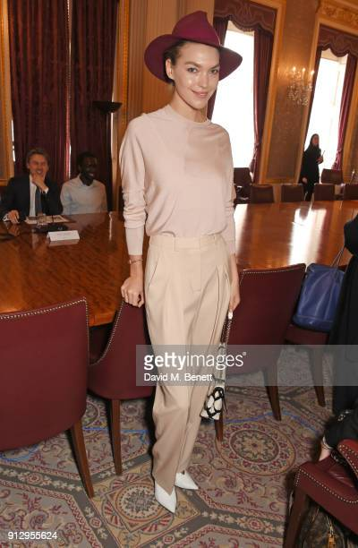 Arizona Muse attends the launch of The Commonwealth Fashion Exchange at Marlborough House on February 1 2018 in London England