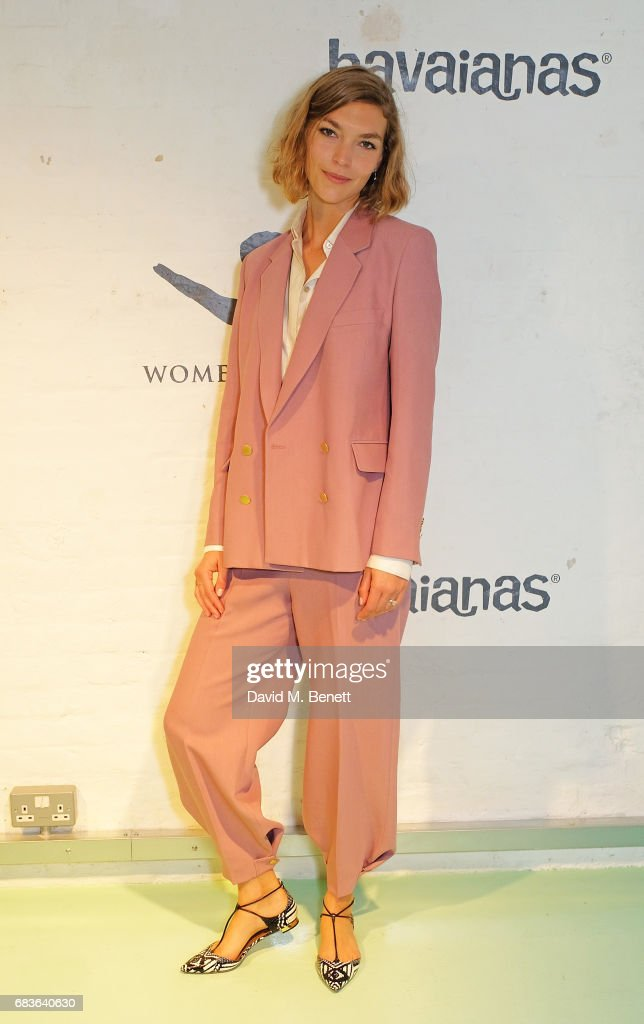 Arizona Muse attends the media launch of the Havaianas Art Auction curated by Maria Kastani in aid of Women for Women International held at the Alex Eagle Studio on May 16, 2017 in London, England.