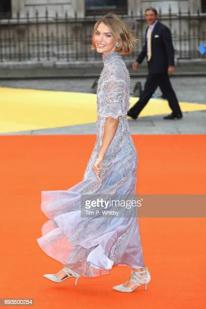 Arizona Muse attends the preview party for the Royal Academy Summer Exhibition at Royal Academy of Arts on June 7 2017 in London England