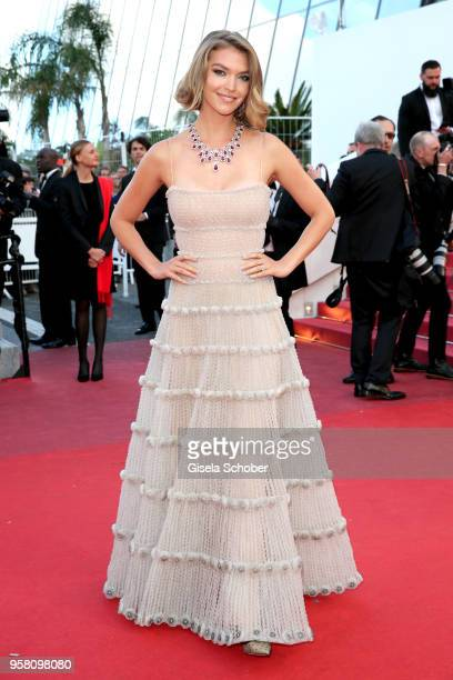 Arizona Muse attends the screening of Sink Or Swim during the 71st annual Cannes Film Festival at Palais des Festivals on May 13 2018 in Cannes France