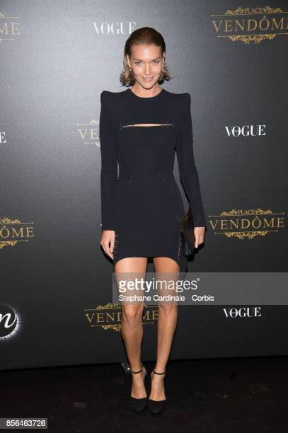 Arizona Muse attends Vogue Party as part of the Paris Fashion Week Womenswear Spring/Summer 2018 at on October 1 2017 in Paris France