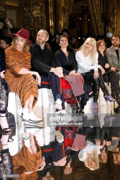 Arizona Muse Husband of Stella Alasdhair Willis Kristin Scott Thomas Cecile Cassel and Isabelle Huppert attend the Stella McCartney show as part of...