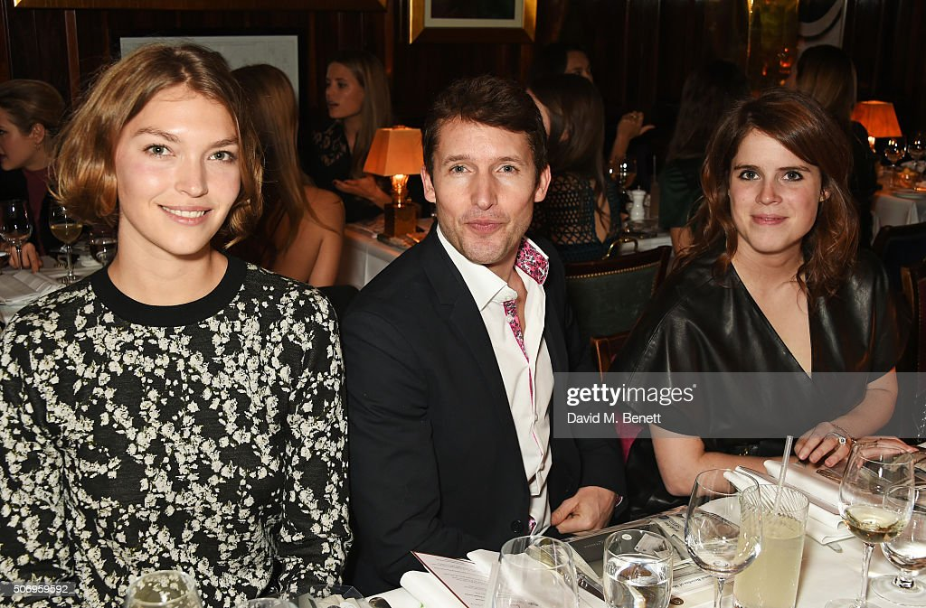 Arizona Muse, James Blunt and Princess Eugenie of York attend the launch of GP Nutrition Supplements, a collection of five premium nutritional programmes perfect for modern living, at Annabels on January 26, 2016 in London, England.