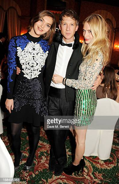 Arizona Muse, Jefferson Hack and Poppy Delevingne attend the ASMALLWORLD Gala Dinner for the Alzheimer's Society at The Gstaad Palace Hotel on...