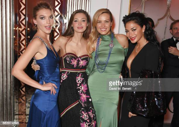 Arizona Muse Lara Lieto Petra Nemcova and Nicole Scherzinger attend the BOVET 1822 Brilliant is Beautiful Gala benefitting Artists for Peace and...
