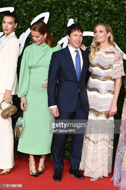 Arizona Muse Millie Mackintosh James Blunt and Lady Sofia Wellesley at The Fashion Awards 2019 held at Royal Albert Hall on December 02 2019 in...