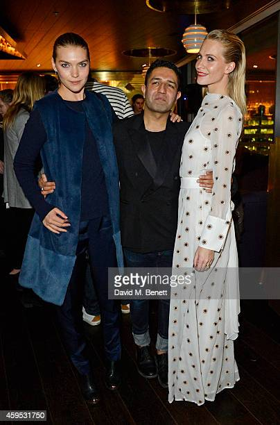 Arizona Muse Osman Yousefzada and Poppy Delevingne attend as Osman Yousefzada and Poppy Delevingne celebrate the launch of the fourth issue of...