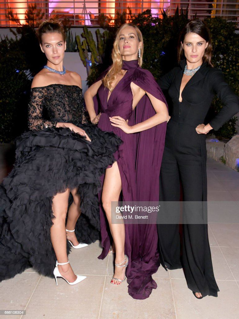 Arizona Muse, Petra Nemcova, and Isabeli Fontana attend the Vanity Fair and Chopard Party celebrating the Cannes Film Festival at Hotel du Cap-Eden-Roc on May 20, 2017 in Cap d'Antibes, France.