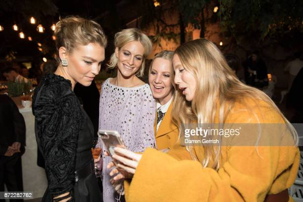 Arizona Muse Poppy Delevigne Alice Naylor Leyland and Violet Manners attend 'Bottega Veneta the Hand of the Artisan' event at Chiswick House And...