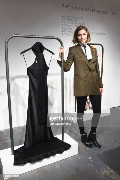 Arizona Muse poses at the Designer Showrooms Preview during London Fashion Week February 2018 on February 16 2018 in London England