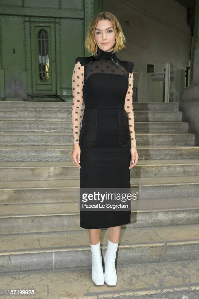 Arizona Muse poses prior the Karl Lagerfeld Hommage at Grand Palais on June 20, 2019 in Paris, France.
