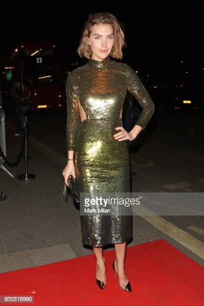 Arizona Muse seen at the Vogue and Tiffany Co party at Annabel's club after attending the EE British Academy Film Awards at the Royal Albert Hall on...
