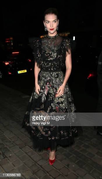 Arizona Muse seen attending London Fabulous Fund Fair at Roundhouse during LFW February 2019 on February 18 2019 in London England