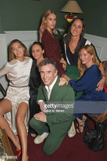 Arizona Muse Stella McCartney Steve Coogan Mary Charteris Rosemary Ferguson and Lucie de la Falaise attend a private dinner hosted by NETAPORTER and...