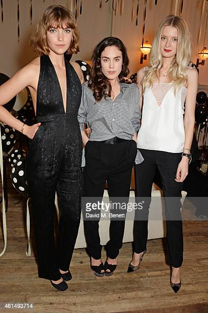 Arizona Muse Tallulah Harlech and Rebecca Corbin Murray attend a dinner hosted by Jo Malone London and Tallulah Harlech to launch the 'Just Because'...