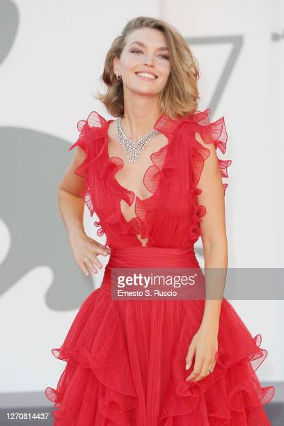 "Arizona Muse walks the red carpet ahead of the movie ""Miss Marx"" at the 77th Venice Film Festival on September 05, 2020 in Venice, Italy."