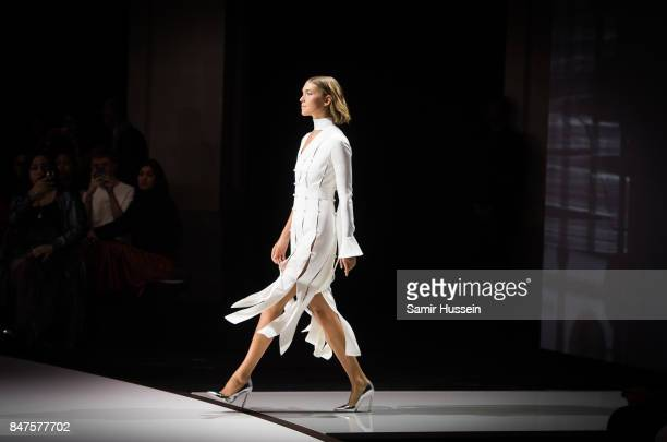 Arizona Muse walks the runway at the Ralph Russo show during London Fashion Week September 2017 on September 15 2017 in London England