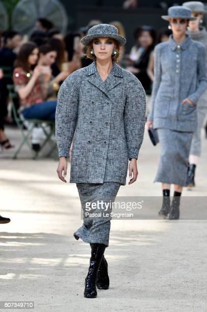 Arizona Muse walks the runway during the Chanel Haute Couture Fall/Winter 20172018 show as part of Haute Couture Paris Fashion Week on July 4 2017 in...