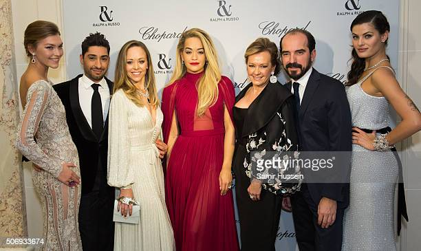 Arizona MuseMichael Russo Tamara Ralph Rita Ora Caroline Scheufele French Film Director and Isabeli Fontana attend the Ralph Russo and Chopard dinner...