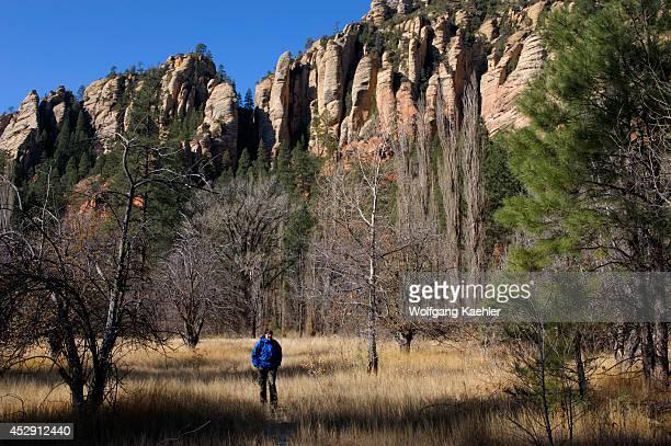 USA Arizona Near Sedona Oak Creek Canyon Near West Fork Hiker Model Relesed10
